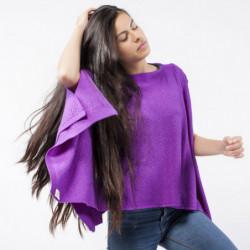 Pélerine Mérinos - Couleur : violet