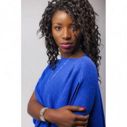 Pélerine Mérinos - Couleur : bleu lavande