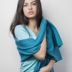 Echarpe Mérinos - Couleur : turquoise