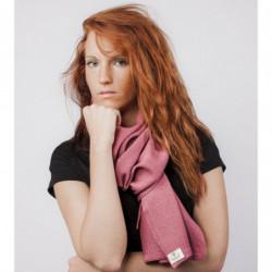 Echarpe Mérinos - Couleur : Vieux Rose (Automne)
