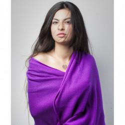 Echarpe Mérinos - Couleur : Violet (Hiver)