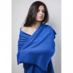 Echarpe Mérinos - Couleur : Bleu Vif (Hiver)
