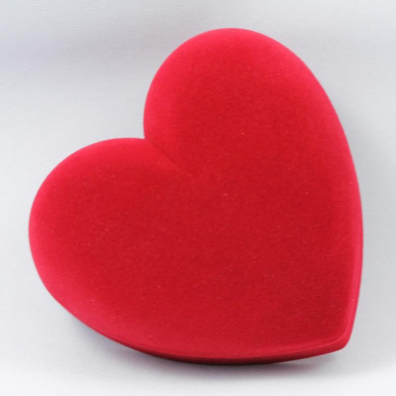 Ecrin velour coeur rouge