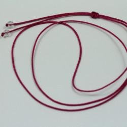 Collier cordon soie - Fushia
