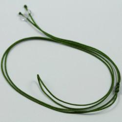 Collier cordon soie - Kaki