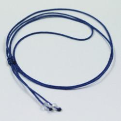 Collier cordon soie - Bleu électrique