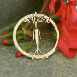 Médaillon simple en or - Harmonie