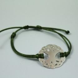 Bracelet Arbre sacré (cordon soie)  - Kaki