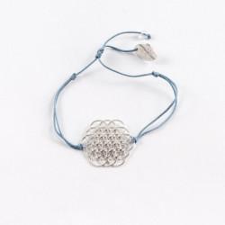 Bracelet Oeuf de vie (cordon en soie) - Bleu