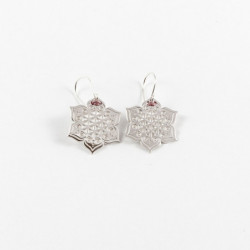 Boucles d'oreilles - Fleur sacrée - Rose