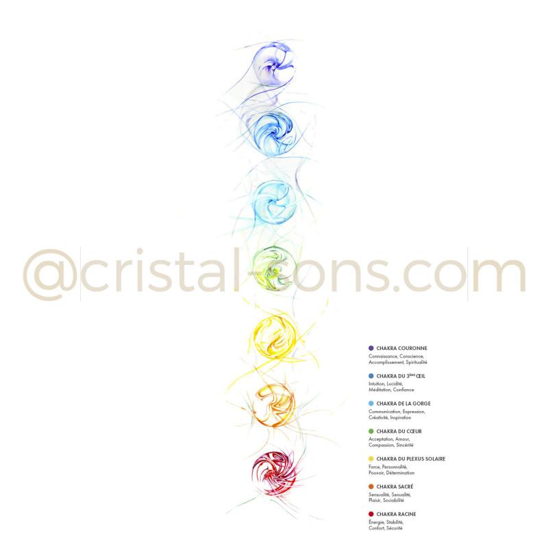 "Illustration ""chakras"" - A4"