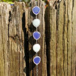 Bracelet équilibrant - Pierres & Argent - Argent jade & quartz vert