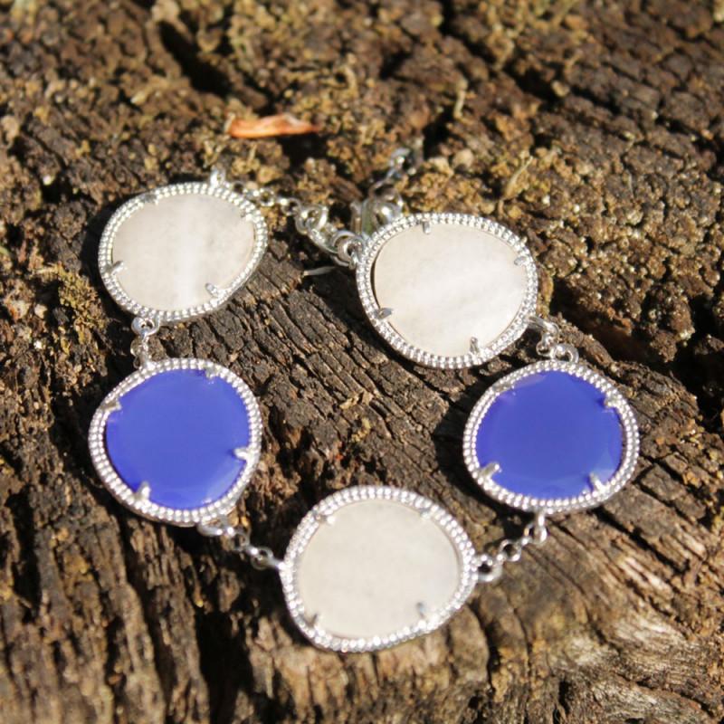 Bracelet équilibrant - Pierres & Argent - Argent jade & agathe