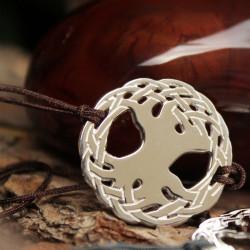 Bracelet Arbre sacré (cordon soie) - Chocolat