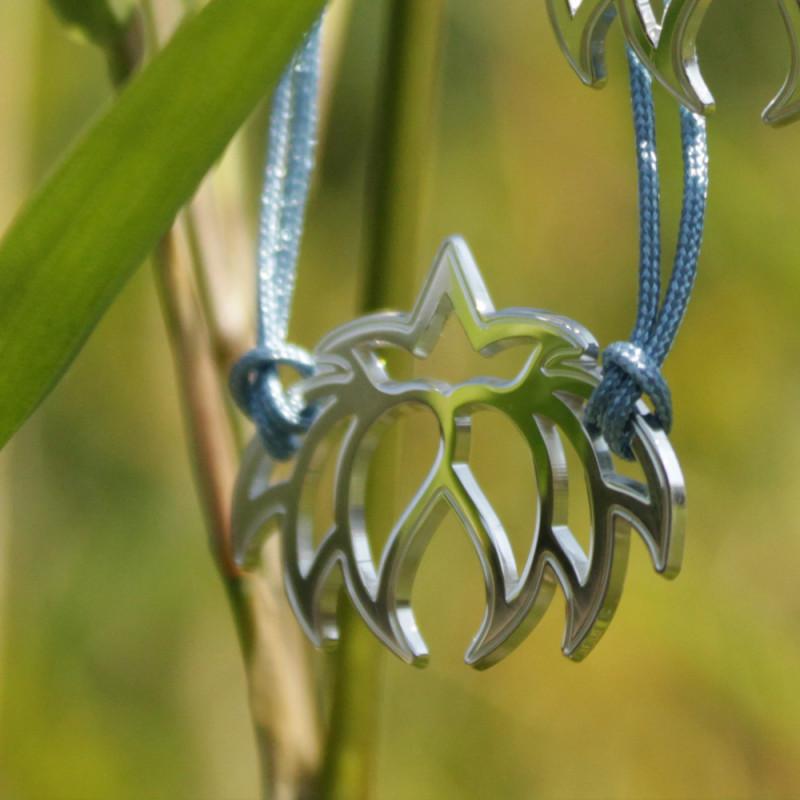 Bracelet - Fleur Cristal'In (cordon soie) - Bleu