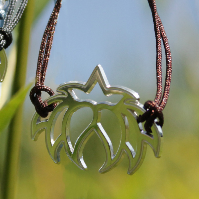 Bracelet - Fleur Cristal'In (cordon soie) - Chocolat