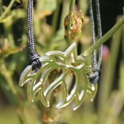Bracelet - Fleur Cristal'In (cordon soie) - Gris anthracite