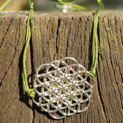 Bracelet Oeuf de vie (cordon en soie) - Kaki